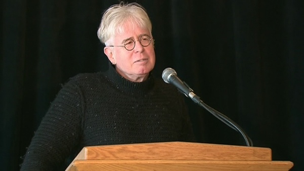 Bruce Cockburn speaks during a press conference announcing the acts for Luminato, in Toronto, Tuesday, March 9, 2010.