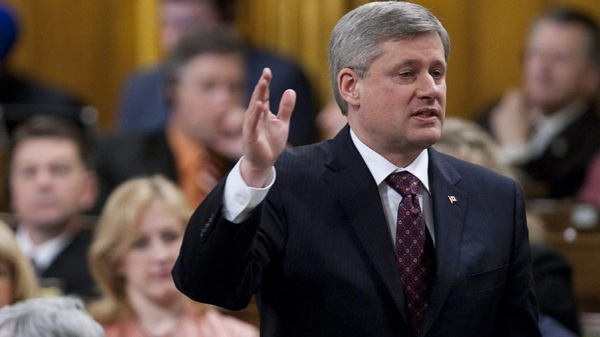 Prime Minister Stephen Harper responds during question period in the House of Commons on Parliament Hill in Ottawa on Tuesday, March 9, 2010. (Sean Kilpatrick / THE CANADIAN PRESS)