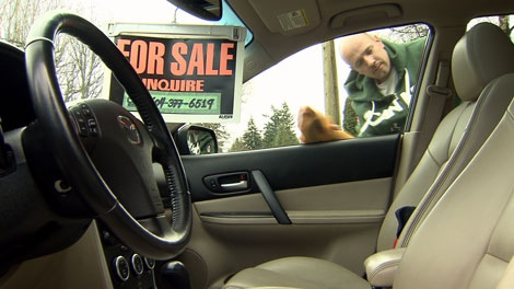Tsawwassen resident Peter Jeffs is hoping to sell his 2006 Mazda before a five per cent tax takes effect. March 11, 2010. (CTV)