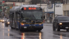 Between students and sledge hockey spectators, TransLink says the 99 B-Line running on Broadway to and from the University of British Columbia will intermittently be crowded in March. (CTV)