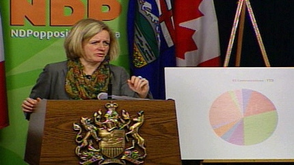 NDP MLA Rachel Notley releases government documents that she says point to a dismal record when it comes to the treatment of foreign workers in Alberta.