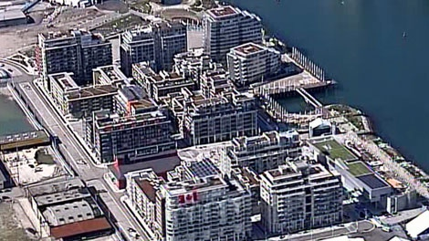 The Olympic Athletes' Village in Vancouver, where the future of promised social housing remains unclear. (CTV)