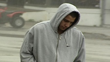 Jonathan Bacon, one of the notorious Bacon brothers associated with the Red Scorpion gang, is seen on March 19, 2009.
