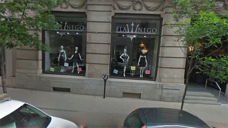 Flanego store in Old Montreal
