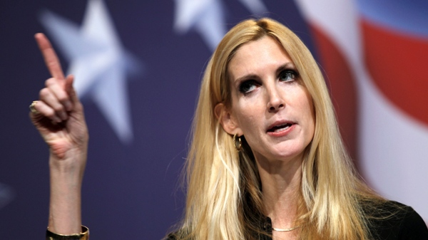 Conservative author Ann Coulter addresses the Conservative Political Action Conference (CPAC) in Washington on Saturday Feb. 20, 2010. (AP / Jose Luis Magana)