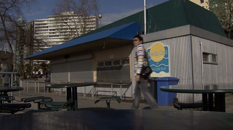 The current concession stand at English Bay, Vancouver. March 22, 2010. (CTV)
