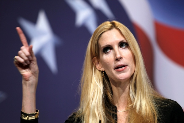 Conservative author Ann Coulter addresses the Conservative Political Action Conference (CPAC) in Washington on Saturday Feb. 20,2010. (AP Photo / Jose Luis Magana)