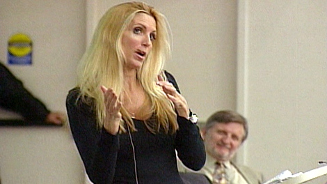 Ann Coulter speaks at the University of Western Ontario, in London, Ont., on Monday, March 22, 2010.
