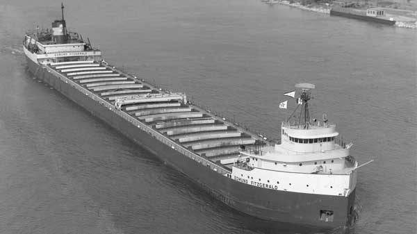 This undated photo, provided by the Lake Superior Maritime Collection, University of Wisconsin-Superior, shows the Edmund Fitzgerald, an ore carrier which sank in Lake Superior Nov. 10, 1975 during a storm. (AP / THE CANADIAN PRESS / Lake Superior Maritime Collection, University of Wisconsin-Superior)