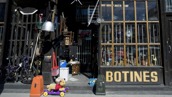 Botines curiosity shop is shown in Montreal, Friday, March 26, 2010 where the owners are selling a controversial bar of soap, allegedly made by the Nazi's with the remains of victims from the holocaust. (THE CANADIAN PRESS/Graham Hughes)