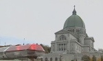 Saint Joseph's Oratory is seen after a gunman entered the church and was confronted by the priest.