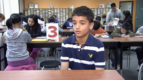Grade seven student Rohan Devrha says he excels at math, but is not confident in reading and writing. (CTV)