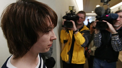 Lorna Pardy filed a human rights complaint against a comedian who hurled homophobic insults at her. March 29, 2010. (CTV)