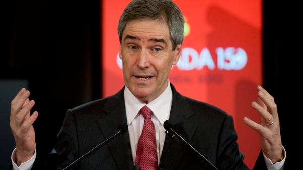 Liberal leader Michael Ignatieff delivers his closing address at the Canada 150 conference in Montreal, Sunday, March 28, 2010. (Graham Hughes / THE CANADIAN PRESS)