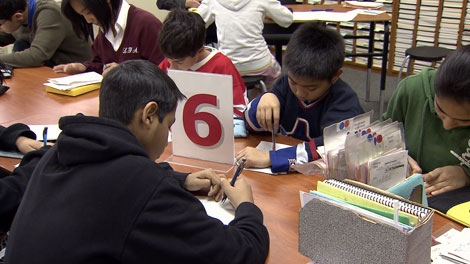 As early as grade four, statistics show that boys are lagging behind girls in reading and writing. (CTV)