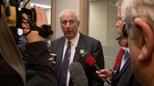 Lawyer Jim Millar walked out of a human rights tribunal, claiming that a complaint against comedian Guy Earle is outside the body's jurisdiction. March 29, 2010. (CTV)