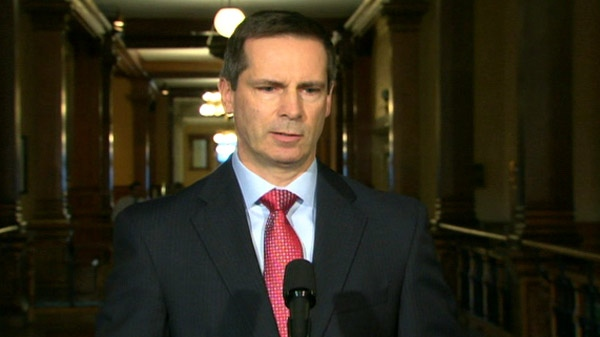 Ontario Premier Dalton McGuinty speaks to reporters from Queen's Park in Toronto, Tuesday, March 30, 2010.