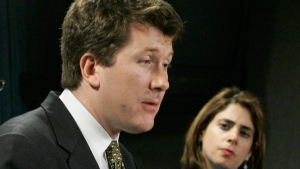 John Williamson, left, speaks at a news conference in Ottawa, Wednesday, Apr. 12, 2006.(Fred Chartrand / THE CANADIAN PRESS)
