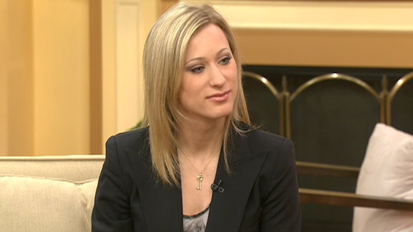 Olympic medalist Joannie Rochette appears on CTV's Canada AM, Wednesday, March 30, 2010.