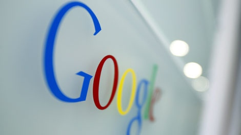 The Google  logo is seen at the Google headquarters in Brussels, Tuesday March 23, 2010. (AP Photo/Virginia Mayo)