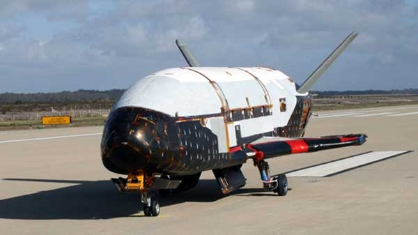 This undated image released by the U.S. Air Force shows the X-37B spacecraft. (AP / U.S. Air Force)
