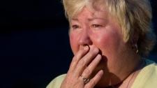 Jenny Waycaster waits for news of her son, Ken Lambert, following a mining accident near Montcoal, W.Va. Monday, April 5, 2010. (AP / Bob Bird)