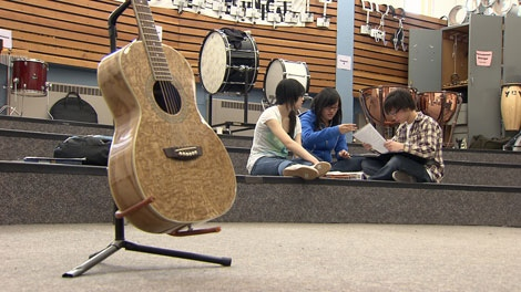 Fine arts and music programs are on the chopping block for the Vancouver School Board. April 8, 2010. (CTV)