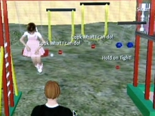 An investigator's avatar enters what seems to be a playground where virtual children offer sex.