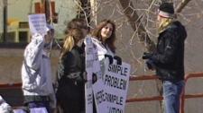 MS protestors