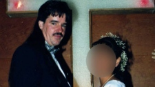 Convicted sexual predator Martin Tremblay is shown in this wedding from 2000.