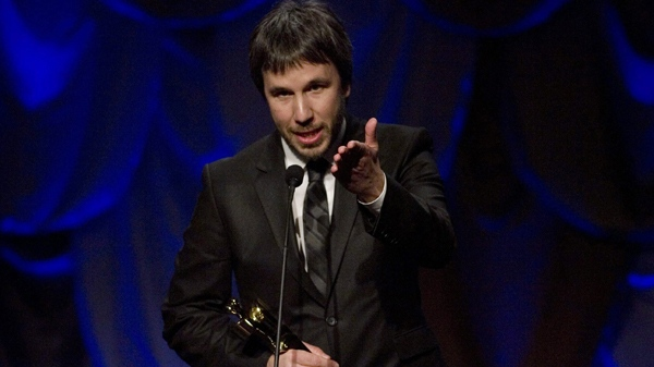 Denis Villeneuve accepts the Award for Achievement in Direction for the film 'Polytechnique' which went on to win Best Motion Picture at the 30th annual Genie Awards on Monday, April 12, 2010. (Chris Young / THE CANADIAN PRESS)