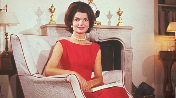 This undated photo shows U.S. first lady Jacqueline Kennedy in a sleeveless dress. (AP Photo)