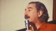Labour activist Michel Chartrand, seen here in 1972, has died at age 93.