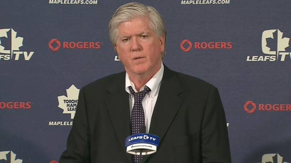 Toronto Maple Leafs general manager Brian Burke said on Wednesday, April 14, that 'I'm immune to fear of being canned.'