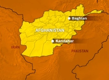CTV map detailing the location of Baghlan, Afghanistan.