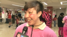 Student and bullying victim Amy Leung speaks with CTV News at Malvern Collegiate in Toronto on Wednesday, April 14, 2010.