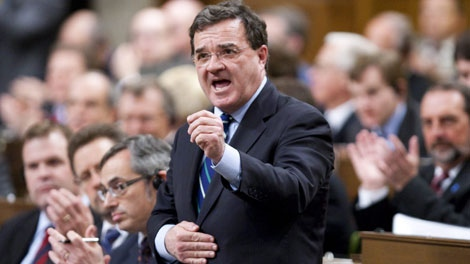 Minister of Finance Jim Flaherty answers a question during question period in the House of Commons on Parliament Hill in Ottawa on Thursday April 1, 2010. (THE CANADIAN PRESS/Sean Kilpatrick)