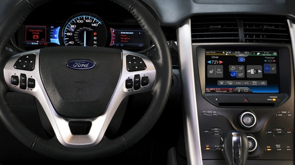 The interior of a Ford car is seen in a file image from the car company.