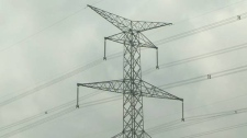 Ontario electricity transmission tower