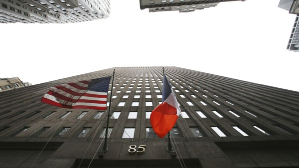Goldman Sachs headquarters in New York on  Wednesday, Oct. 14, 2009. (AP Photo/Mark Lennihan)
