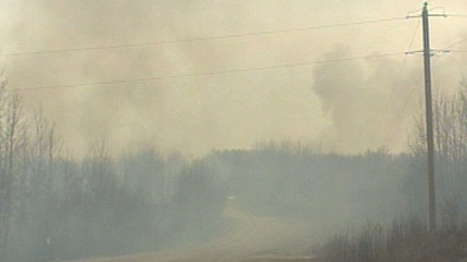 Smoke from the brush fire has blanketed much of the Paul First Nation and has forced several people out of their homes.