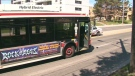 A young girl was struck by a TTC bus in North York on Sunday, April 18, 2010.