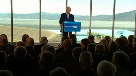 B.C. Premier Gordon Campbell announced Monday that the Site C hydroelectric dam project was moving forward. April 19, 2010. (CTV)