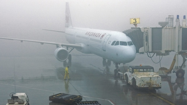 An Air Canada jet sits on the tarmac at the airport in St. John's, N.L. on Monday, April 19, 2010. (Andrew Vaughan / THE CANADIAN PRESS)