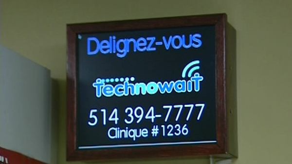 By calling into the Technowait voicemail, an automated message tells patients how many people are ahead of them, and how fast the queue is moving.