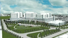 An artist's sketch of what the MUHC superhospital will look like.