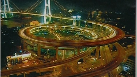 An artist's sketch of the city of Montreal's proposal for a new Turcot interchange.