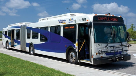 The City of Ottawa is considering a $155-million deal to purchase buses similar to this one manufactured by New Flyer.