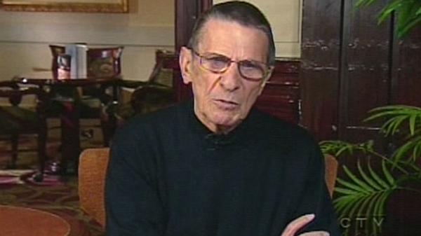 Leonard Nimoy appears on CTV News from the Fairmont Palliser in Calgary, Friday, April 23, 2010.