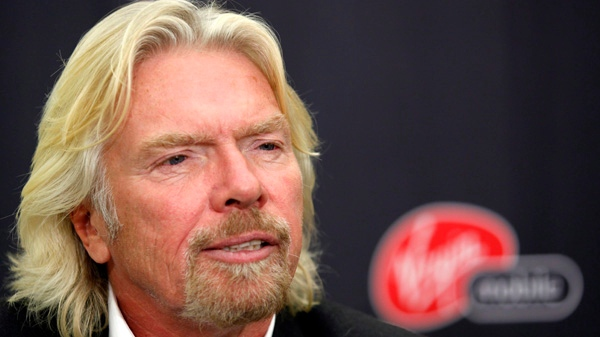 Billionaire Sir Richard Branson speaks during an interview in Calgary, Friday, Oct. 2, 2009. (Jeff McIntosh / THE CANADIAN PRESS)